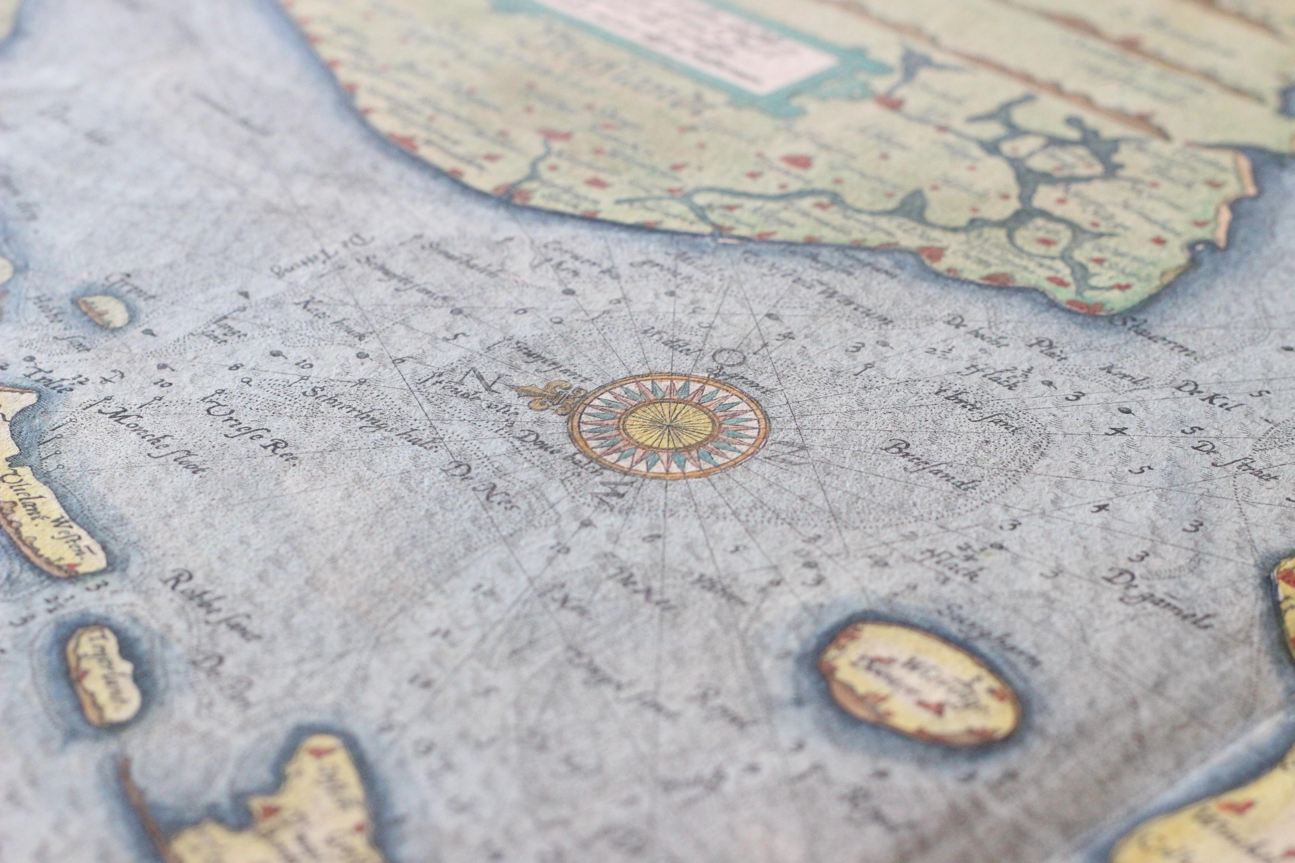 Gerestaureerde landkaart